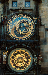 CZECH REPUBLIC BOHEMIA PRAGUE JUL97 - General view of one of the oldest clocks in the world, Prague's Orloy which has been in operation since the 14th century. . . jre/Photo by Jiri Rezac. . © Jiri Rezac 1997. . Tel:   +44 (0) 7050 110 417. Email: jiri@jirirezac.com. Web:   www.jirirezac.com