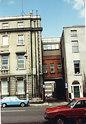 Old amateur photos of Dublin streets churches, cars, lanes, roads, shops schools, hospitals VW Golf MK1 Toyota Carina Custom House, Gate Theather, Protestant Church, Temple St Hospital, St Georges Church, Abbey St, GPO July 1986 July 1986