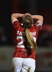 A frustrated Millie Farrow of Bristol City Women - Mandatory by-line: Paul Knight/JMP - 28/03/2018 - FOOTBALL - Stoke Gifford Stadium - Bristol, England - Bristol City Women v Birmingham City Ladies - FA Women's Super League