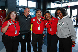 Gameday staff members are honored for 10 years of service before the game between the San Diego Chargers and the Philadelphia Eagles at Lincoln Financial Field in Philadelphia, Pennsylvania. (Photo by Brian Garfinkel)