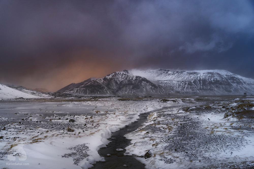 Ice. Fire. Iceland. Winter in Grundarfjörður is extravagant.