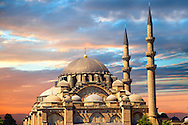 The Suleymaniye Mosque (Süleymaniye Camii, 1550-1558)  on the Third Hill, Istanbul Turkey. .<br /> <br /> If you prefer to buy from our ALAMY PHOTO LIBRARY  Collection visit : https://www.alamy.com/portfolio/paul-williams-funkystock/istanbul.html<br /> <br /> Visit our TURKEY PHOTO COLLECTIONS for more photos to download or buy as wall art prints https://funkystock.photoshelter.com/gallery-collection/3f-Pictures-of-Turkey-Turkey-Photos-Images-Fotos/C0000U.hJWkZxAbg
