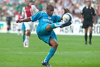 Fotball<br /> Nederland<br /> Foto: ProShots/Digitalsport<br /> NORWAY ONLY<br /> <br /> seizoen 2006-2007 johan cruyf schaal amsterdam 13-08-2006. aktie voor het doel van ajax door jefferson farfan