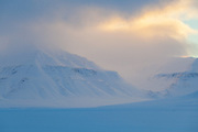 Sunrise over Sassendalen, Svalbard.