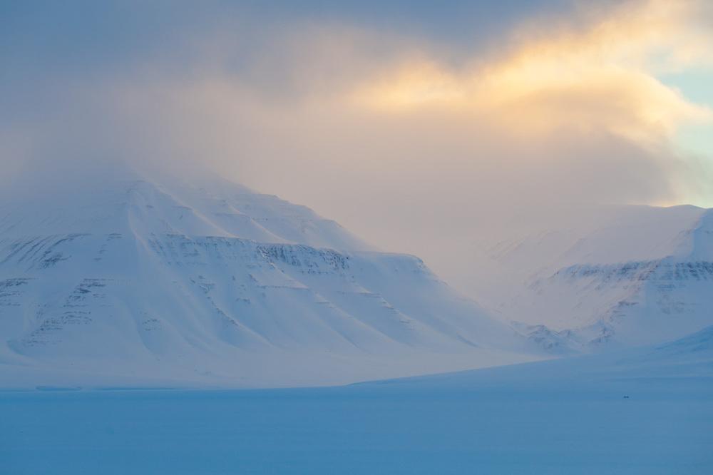 Sunrise over Sassendalen, Svalbard.