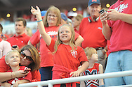 Mississippi Rebels fans at Vaught-Hemingway Stadium at Ole Miss in Oxford, Miss. on Saturday, September 26, 2015. (AP Photo/Oxford Eagle, Bruce Newman)