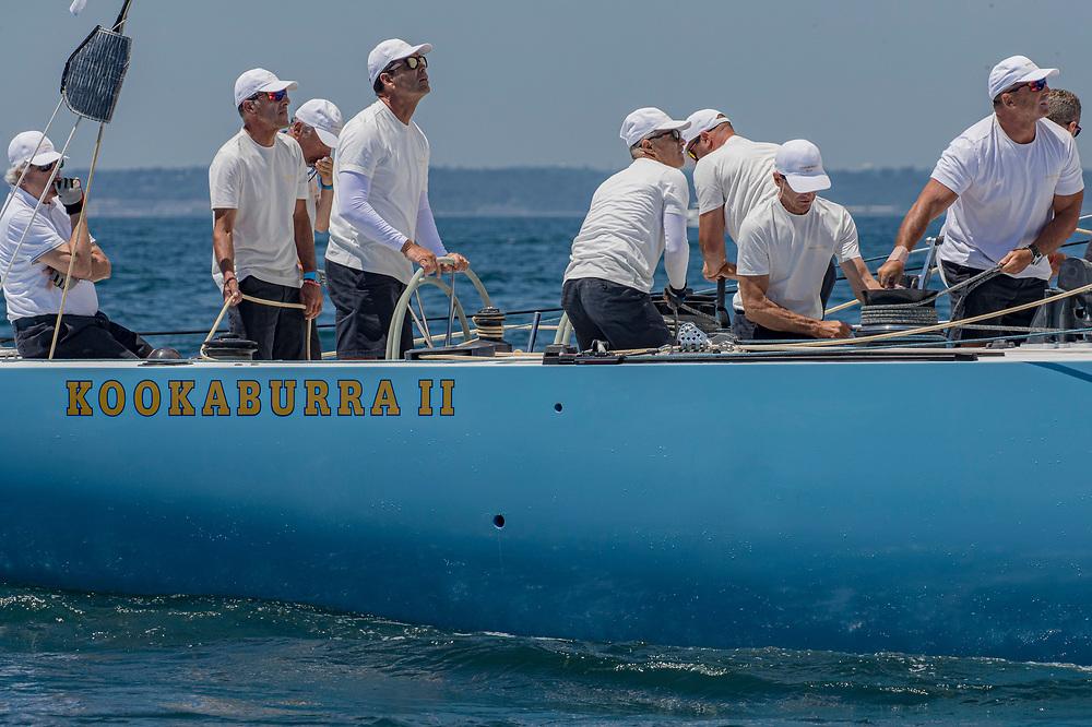 "KA 12Kookaburra IITorben Grael / Patrizio Bertelliin the back of the yacht<br /> Yacht Club Italiano""Arezzo, ITA""12 Metre20.23<br /> <br /> 2019 12 Metre World Championship"