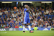 Chelsea attacker Victor Moses (15) with head in hands during the EFL Cup match between Chelsea and Bristol Rovers at Stamford Bridge, London, England on 23 August 2016. Photo by Matthew Redman.