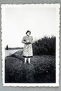 adult woman casual posing for a portrait  ca 1950s Holland