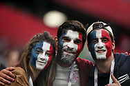 Fans of France before the 2018 FIFA World Cup Russia, Semi Final football match between France and Belgium on July 10, 2018 at Saint Petersburg Stadium in Saint Petersburg, Russia - Photo Thiago Bernardes / FramePhoto / ProSportsImages / DPPI