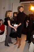 L' Wren Scott, Ungaro couture fashion show at their studio, Ave Montaigne, Paris, 21 January 2004.  © Copyright Photograph by Dafydd Jones 66 Stockwell Park Rd. London SW9 0DA Tel 020 7733 0108 www.dafjones.com
