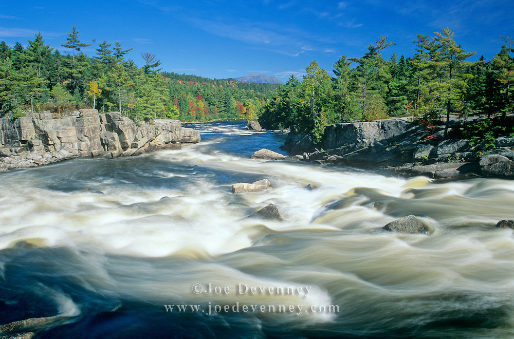 Rapids in the Cribworks on the Penobscot River. Maine