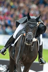 Barbancon Mestre Morgan, (ESP), Painted Black<br /> FEI European Championships - Aachen 2015<br /> © Hippo Foto - Leanjo de Koster<br /> 16/08/15