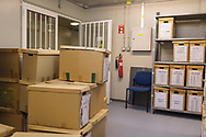 At CMP's lab in the Cypriot buffer zone, excavated human remains are stored until further bones may be discovered, and the remains can be prepared for burial.