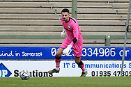 Luke McGee (1) of Forest Green Rovers during the Pre-Season Friendly match between Yeovil Town and Forest Green Rovers at Huish Park, Yeovil, England on 31 July 2021.