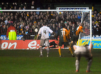 Photo: Alan Crowhurst/Sportsbeat Images.<br />Horsham v Swansea City. The FA Cup. 30/11/2007. Horsham's Lewis Taylor scores from the sport, 1-1.