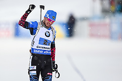 March 16, 2019 - –Stersund, Sweden - 190316 Alexander Loginov of Russia  celebrates after the Men's 4x7,5 km Relay during the IBU World Championships Biathlon on March 16, 2019 in Östersund..Photo: Petter Arvidson / BILDBYRÃ…N / kod PA / 92269 (Credit Image: © Petter Arvidson/Bildbyran via ZUMA Press)