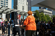 Comedian Debi Durst with SFMTA Director of Transportation, Ed Reiskin at the 2012 Cable Car Bell Ringing Competition