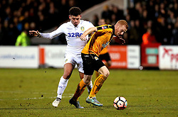 Conor Newton of Cambridge United goes past Kalvin Phillips of Leeds United - Mandatory by-line: Robbie Stephenson/JMP - 09/01/2017 - FOOTBALL - Cambs Glass Stadium - Cambridge, England - Cambridge United v Leeds United - FA Cup third round