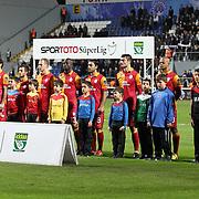 Galatasaray's players during their Turkish superleague soccer match Kasimpasa between Galatasaray at the Recep Tayyip Erdogan stadium in Istanbul Turkey on Friday 18 January 2013. Photo by Aykut AKICI/TURKPIX