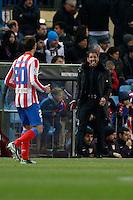 13.01.2013 SPAIN -  La Liga 12/13 Matchday 19th  match played between Atletico de Madrid vs Real Zaragoza (2-0) at Vicente Calderon stadium. The picture show  Diego Pablo Simeone coach of Atletico de Madrid