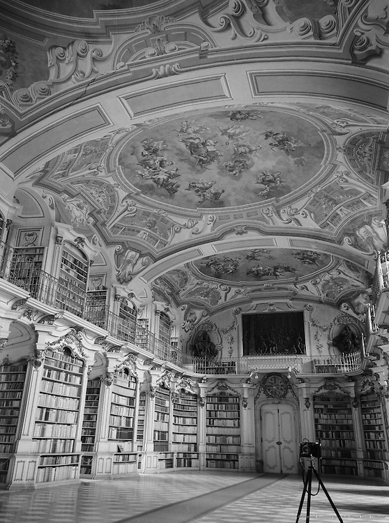 Abbey library and camera, Admont, Austria, 1937