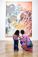 Visitors view the contemporary art section of the Saint Louis Art Museum.