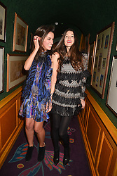 Left to right,  Rosanna Falconer and Sarah Ann Macklin at the Annabel's Bright Young Things Party held at Annabel's, 44 Berkeley Square, London England. 16 February 2017.