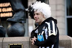 A Newcastle United fan ahead of the Premier League match at St James' Park, Newcastle.