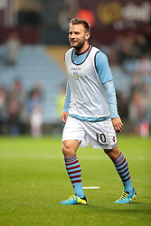 Aston Villa's Andreas Weimann  - Photo mandatory by-line: Nigel Pitts-Drake/JMP - Tel: Mobile: 07966 386802 24/09/2013 - SPORT - FOOTBALL -  Villa Park - Birmingham - Aston Villa v Tottenham Hotspur - Round 3 - Capital One Cup
