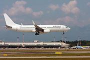EI-FNW AirItaly Boeing 737 Next Gen passenger jet at takeoff Photographed at Malpensa Airport, Milan, Italy