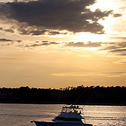 """The Patterson's boat """"Number Two"""" in the ICW and out on the ocean near Wrightsville Beach...Photo by Logan Mock-Bunting"""