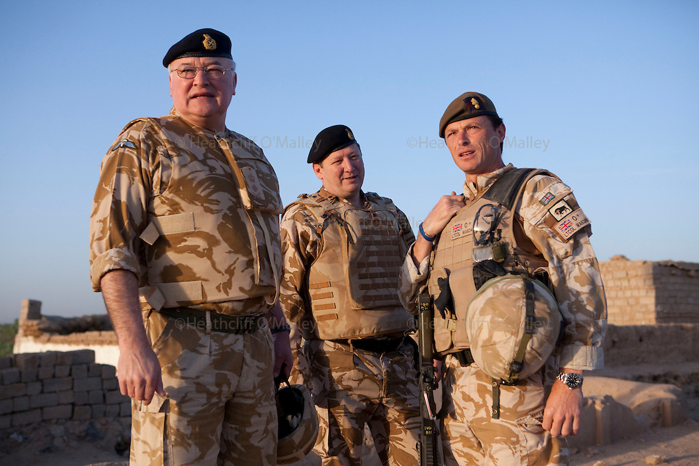Stock Picture..(left)General Sir Peter Wall photographed visiting Helmand province in March 2010 prior to taking up his new post as Chief of General Staff, on right is Lieutenant Colonel Roly Walker, Commanding Officer 1 Grenadier Guards...Nad e Ali, Afghanistan 17 March 2010