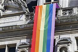August 6, 2018 - Paris, FRANCE - Illustration drapeau gay (Credit Image: © Panoramic via ZUMA Press)