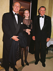 Left to right, PRINCE EDUARD, DUKE OF ANHALT, his daughter PRINCESS EILIKA and PRINCE NICHOLAS ROMANOV, at a reception in London on 19th June 1999.MTL 25