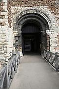 Colchester castle Norman doorway, , Essex, England.