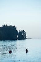Salmon fishing, Tillamook Bay, Oregon.