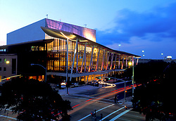 Stock photo of the Hobby Center in downtown Houston Texas