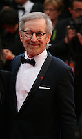 Director Steven Spielberg at the The Coen brother's new film 'Inside Llewyn Davis' red carpet gala screening at the Cannes Film Festival Sunday 19th May 2013