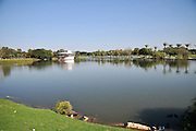 Israel, Ramat Gan, The man made lake in the Ramat Gan National park