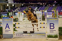 STÜHLMEYER Patrick (GER), Accoton PS<br /> Frankfurt - Festhallen Reitturnier 2019<br /> Preis der Lufthansa Cargo AG<br /> 1. Qualifikation der Youngster Tour: Int. Zwei-Phasen-Springprüfung für 7-8 jährige Pferde (1,35m)<br /> 20. Dezember 2019<br /> © www.sportfotos-lafrentz.de/Stefan Lafrentz