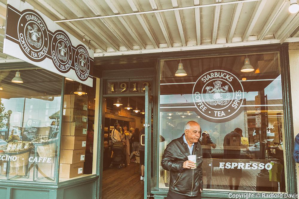 Starbucks Coffee at Pike Place, Seattle, Washington