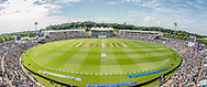 a panoramic ground shot of The Ageas Bowl during the third day of the 4th SpecSavers International Test Match 2018 match between England and India at the Ageas Bowl, Southampton, United Kingdom on 1 September 2018.