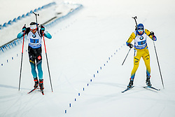 March 16, 2019 - –Stersund, Sweden - 190316 Martin Fourcade of France and Sebastian Samuelsson of Sweden competes in the Men's 4x7,5 km Relay during the IBU World Championships Biathlon on March 16, 2019 in Östersund..Photo: Johan Axelsson / BILDBYRÃ…N / Cop 245 (Credit Image: © Johan Axelsson/Bildbyran via ZUMA Press)