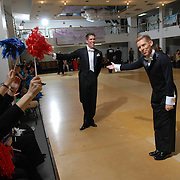 Same-sex ballroom dancers Stuart Nichols, left, and Richard Lamberty, right, of Orlando, Florida.compete in the men's standard competition at the 5 Boro Dance Challenge on May 5, 2007...The locally produced 5 Boro Dance Challenge, New York City's first major same-sex dance competition, was held at the Park Central Hotel in Manhattan from May 4-6, 2007. .