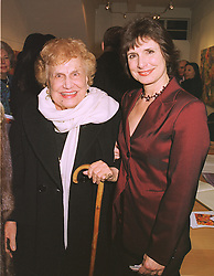 Left to right, LADY RUSSELL and her daughter LADY BOOTHBY, at an exhibition in London on 16th February 1999.MOJ 21