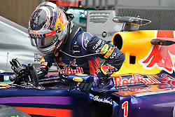 19.04.2014, International Circuit, Shanghai, CHN, FIA, Formel 1, Grand Prix von China, Qualifying Tag, im Bild Sebastian Vettel (GER) Red Bull Racing RB10 in parc ferme. // during the Qualifyingday of Chinese Formula One Grand Prix at the International Circuit in Shanghai, China on 2014/04/19. EXPA Pictures © 2014, PhotoCredit: EXPA/ Sutton Images<br /> <br /> *****ATTENTION - for AUT, SLO, CRO, SRB, BIH, MAZ only*****