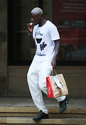 Manchester City's Benjamin Mendy seen out and about in Manchester