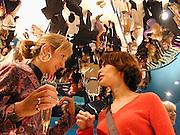 Lady Victoria Hervey and Lisa B. Marni shop opening. Sloane St. London. 25 October 2000. © Copyright Photograph by Dafydd Jones 66 Stockwell Park Rd. London SW9 0DA Tel 020 7733 0108 www.dafjones.com