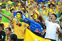 Fotball<br /> Asia Cup / Asiamesterskapet<br /> 31.01.2015<br /> Australia v Sør Korea 2:1 eeo<br /> Finale<br /> Foto: imago/Digitalsport<br /> NORWAY ONLY<br /> <br /> Fans of Australia cheer for the team during the final match between Australia and South Korea at the 2015 AFC Asian Cup in Sydney, Australia, Jan. 31, 2015. Australia won 2-1 and claimed the title of the event.